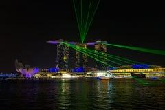 Marina Bay Sands Resort at night. Marina Bay Sands Resort light show at night, Singapore, Republic of Singapore Stock Images