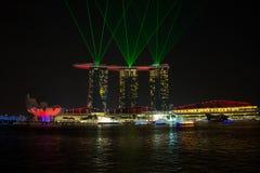 Marina Bay Sands Resort at night Stock Images