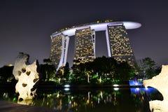 Marina Bay Sands resort at night. Singapore Royalty Free Stock Images