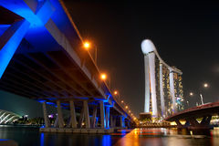 Marina Bay Sands Resort at night Royalty Free Stock Image