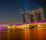 Marina Bay Sands Resort at night Stock Image