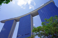 Marina Bay Sands Resort Singapore Fotografie Stock Libere da Diritti
