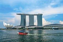 Marina Bay Sands Resort a Singapore Fotografia Stock Libera da Diritti
