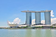 Marina Bay Sands Resort in Singapore Stock Photos
