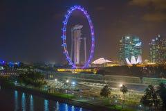 Marina Bay Sands Singapore Flyer royalty free stock photo