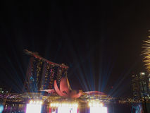 Marina Bay Sands - SG50 Arkivfoton