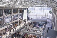 Marina Bay Sands Shopping stockbilder