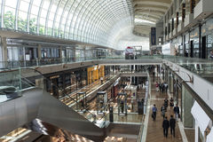 Marina Bay Sands Shopping Royalty Free Stock Photography