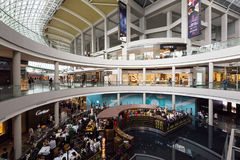 Marina Bay Sands Shopping Mall Singapore. SINGAPORE - February 26, 2017: General view of the  Marina Bay Sands Shopping Mall Singapore. It is one of Singapore`s Royalty Free Stock Image
