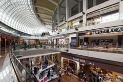 Marina Bay Sands Shopping Mall Singapore. SINGAPORE - February 26, 2017: General view of the  Marina Bay Sands Shopping Mall Singapore. It is one of Singapore`s Stock Image