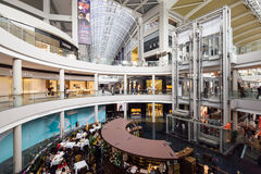 Marina Bay Sands Shopping Mall Singapore. SINGAPORE - February 26, 2017: General view of the  Marina Bay Sands Shopping Mall Singapore. It is one of Singapore`s Royalty Free Stock Photos