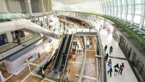 Marina Bay Sands Shopping Mall Singapur stock video footage