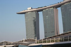 Marina Bay Sands. A sight showing the magnificent structure of the marina bay sands hotel Stock Image