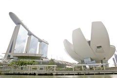 Marina Bay Sands And Singapore Art Museum Lizenzfreies Stockfoto
