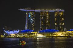 Marina Bay Sands in Singapore Royalty Free Stock Images