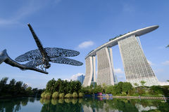 The Marina Bay Sands in Singapore Stock Images