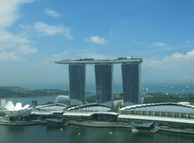 Marina Bay Sands. Singapore - July 2016 The Marina Bay Sands in Singapore. It has wonderful views of both the city and the sea and a short walk away from the stock photo