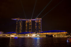 Marina bay sands, SINGAPORE-JUN 14, 2015 : view of marina bay sa Stock Photo