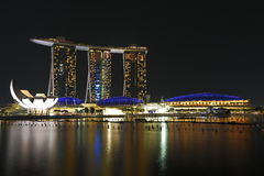 Marina Bay Sands Singapore Night 1. NIght view of Singapore Marina Bay Sands Royalty Free Stock Photography