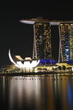 Marina Bay Sands Singapore Night 2 Royalty Free Stock Photo