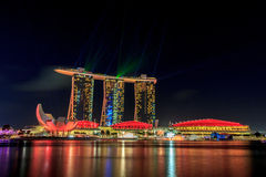 Marina Bay Sands Singapore, hotel - ship royalty free stock photography