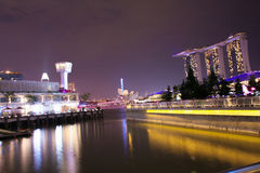 Marina Bay Sands, Singapore. At night Royalty Free Stock Photos