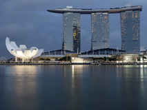 The Marina Bay Sands Singapore, night Royalty Free Stock Photo