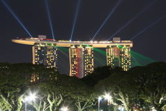 Marina Bay Sands Singapore. Night scene of Marina Bay Sands Singapore Stock Photos