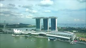 Marina Bay Sands Singapore stock video footage