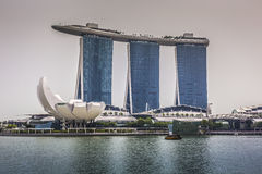 MARINA BAY SANDS, SINGAPORE NOVEMBER 05, 2015: Beautiful day at Royalty Free Stock Photography