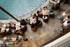Marina Bay Sands. SINGAPORE - NOVEMBER 08, 2015: interior of The Shoppes at Marina Bay Sands. The Shoppes at Marina Bay Sands is one of Singapore's largest Stock Images