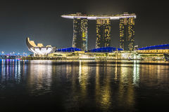 MARINA BAY SANDS, SINGAPORE NOVEMBER 05, 2015: Marina Bay waterf. Ront and skyline, Singapore on November 05, 2015 Stock Photography