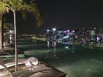 Marina Bay Sands Singapore. Skyline hotel infinitypool Royalty Free Stock Image