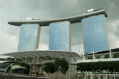 Marina Bay Sands Singapore. A view of the Marina Bay Sands Casino and Hotel complex in Singapore Royalty Free Stock Image