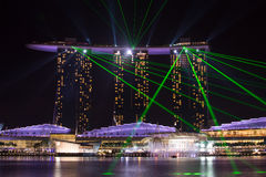 Marina Bay Sands Singapore. View of The Marina Bay Sands Hotel Royalty Free Stock Photo