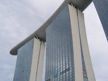 Marina Bay Sands Singapore Viewed da avenida de Bayfront fotografia de stock royalty free