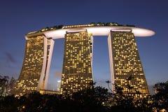 Marina Bay Sands, Singapur fotografía de archivo