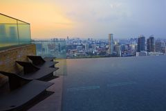 Marina Bay Sands Sky Pool stock foto's