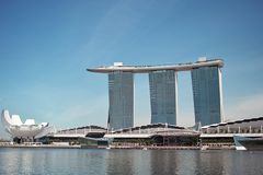 Marina Bay Sands SkyPark in Singapore Royalty Free Stock Photos