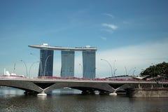 Marina Bay Sands SkyPark in Singapore. Marina Bay Sands Integrated Resort, and skypark in Singapore Stock Photos