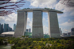 Marina Bay Sands skyscraper building Royalty Free Stock Images