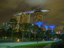 Marina Bay Sands with the Super tree Royalty Free Stock Photography