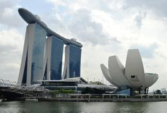 Marina Bay Sands and Waterfront, Singapore Royalty Free Stock Photography