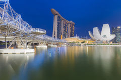 Marina Bay Sands and Waterfront view, Singapore Stock Images