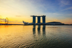 Marina Bay Sands, World's most expensive standalone casino property in Singapore at S$8 billion on May 15, 201 Royalty Free Stock Photos
