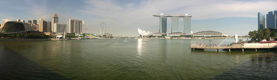 Marina Bay, Singapore. Pano Marina Bay, Singapore. Wonderful city Stock Images