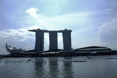 Marina Bay Singapore Royaltyfri Foto