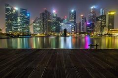 Marina Bay Singapore - April 1 2018 - sikt av Marina Bays Sand Arkivbilder