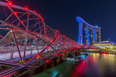 Marina Bay in Singapore Stock Images