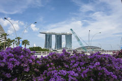 Marina Bay, Singapore. Singapore, the Republic of Singapore, and often referred to as the Lion City, the Garden City, and the Red Dot, is a global city in Royalty Free Stock Photos